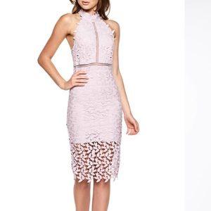 Bardot Lace Lilac Dress Small
